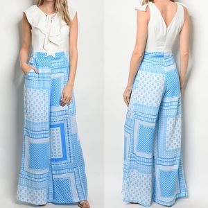 Pants - 🌸JUST IN🌸 SKYLER WHITE/BLUE PRINTED JUMPSUIT